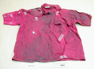 Stephen Lawrence murder : The bloody shirt Stephen Lawrence was wearing on the night he was stabbed