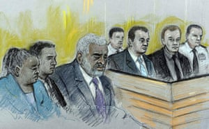 Stephen Lawrence murder : Court  drawing of parents of Stephen Lawrence