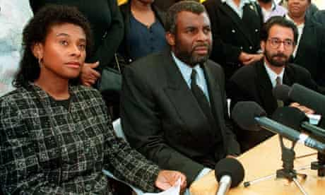 Stephen Lawrence's parents, Doreen and Neville in 1993