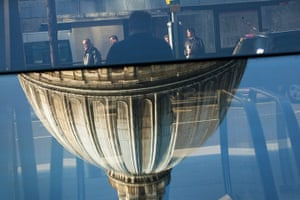 Reflections: A reflection in the glazing of the 'One New Change' complex