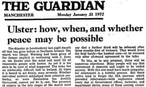 卫报领导人,1972年1月31日血腥星期天
