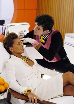 Models turned actresses: Vanessa Williams and Michael Urie in Ugly Betty 2006