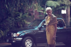 Models turned actresses: Agyness Deyn on set of the silent short film 'Here' in Hawaii