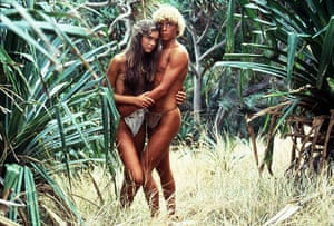 Models turned actresses: Brooke Shields & Christopher Atkins in The Blue Lagoon 1980