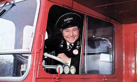Actor Reg Varney in On the Buses, a British sitcom broadcast in the 70s