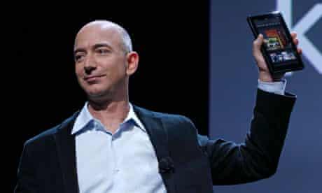 Amazon CEO Jeff Bezos Kindle Fire