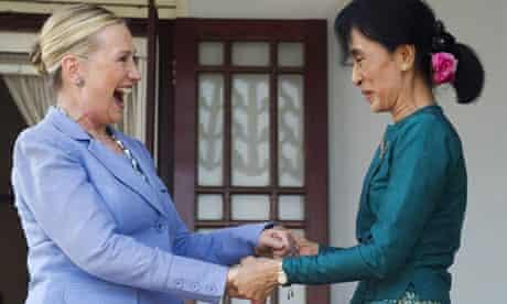 Aung San Suu Kyi Clinton