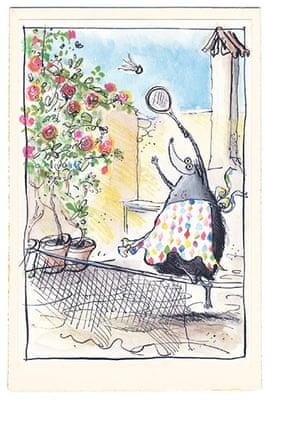 Mrs Mole Ronald Searle 2: Mrs Mole by Ronald Searle 2
