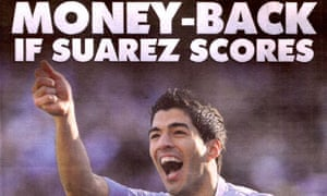 Paddy Power's Luis Suarez ad that was printed in the Sun