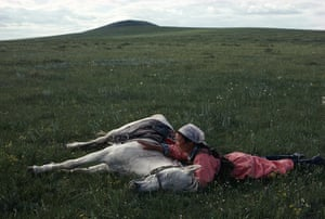 Eve Arnold dies: 1979 Horse training for the militia, Inner Mongolia, China