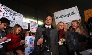 Andrew Wakefield outside the GMC