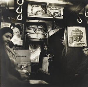 New York photography: Untitled (Subway Car), 1949 by Sy Kattelson