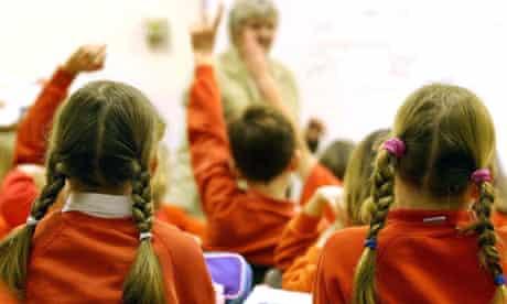 Primary schoolchildren in class