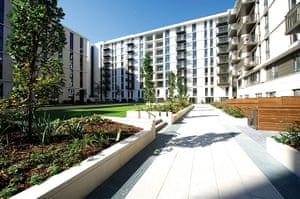Olympic village: housing blocks that form the new Olympic Village
