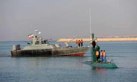 Iran - naval war games in the strait of Hormuz