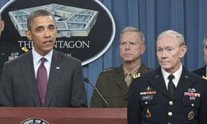 United States President Barack Obama Outlines Defense Strategy at the Pentagon,
