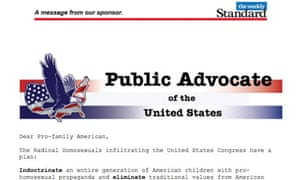Anti gay email from Weekly Standard