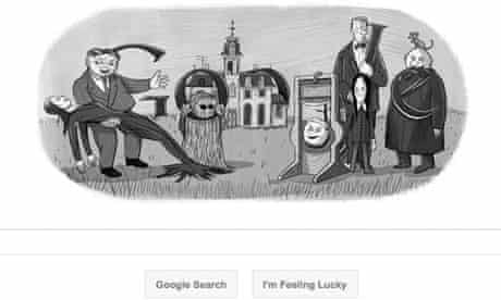 Charles Addams celebrated in Google Doodle.