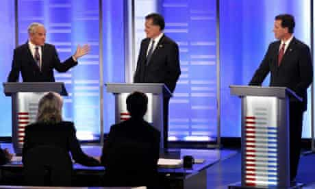Ron Paul, Mitt Romney, Rick Santorum