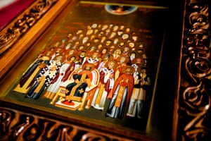 Serbian Lazarica Church: An icon of the Council of Holy Serbian Martyrs