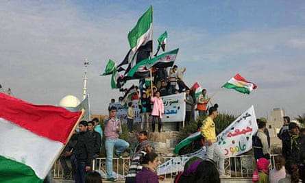 A protest against Syria's President Bashar al-Assad
