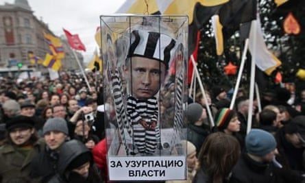 Russians protest against alleged vote rigging in Russia's parliamentary elections