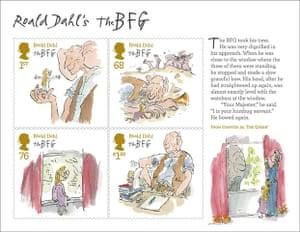 Roald Dahl stamps: The BFG