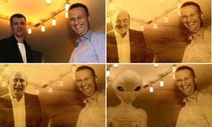 Aleksei Navalny with Mikhail D. Prokhorov, Mikhail D. Prokhorov, Vladimir Putin and an alien