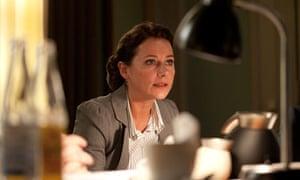 Sidse Babett Knudsen as Birgitte Nyborg Christensen in Borgen.