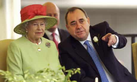 Alex Salmond with the Queen