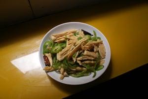 shanghai street food: Bamboo tofu Shanghai street food