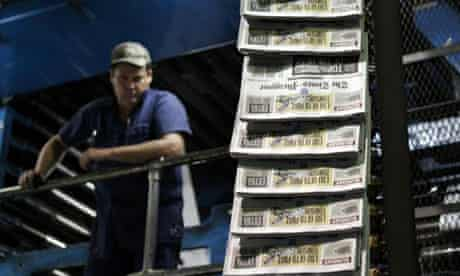 Last daily press run of the New Orleans Times-Picayune