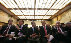 Officials at the IMF conference in Tokyo.