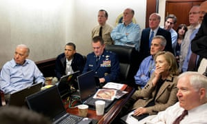 White House staffers watch events in Abbottabad