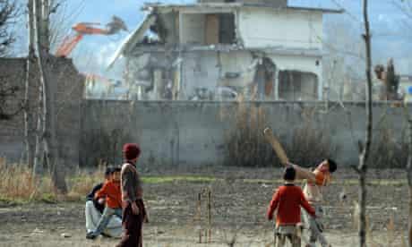 Bulldozers demolish the Abbottabad compound
