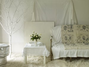 Homes: Russain House: Image of white room with white covered sofa