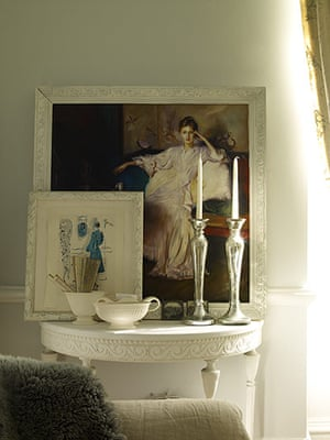 Homes: Russain House: Paintings resting on a mantlepiece