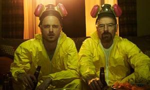 Aaron Paul and Bryan Cranston in Breaking Bad.