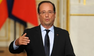 French President Francois Hollande speaks during a news conference at the Elysee Palace on October 10, 2012 in Paris, France.