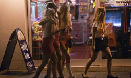 Female students on a Carnage UK-organised night out in Brighton.