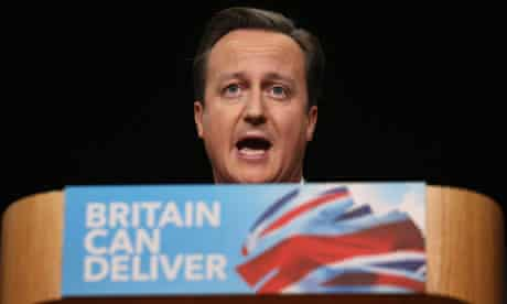 David Cameron delivers his speech to the Conservative party conference in Birmingham
