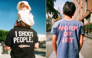 Big Picture: T-Shirts: Images on the backs of t-shirts: I Shoot people. Work of Art