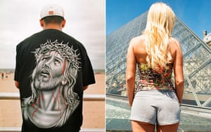 Big Picture: T-Shirts: Images on the backs of t-shirts: Jesus. A pattern