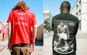 Big Picture: T-Shirts: Images on the backs of t-shirts: Hide the sex toys. Muhammad Ali