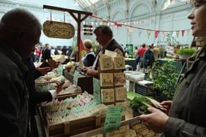 Harvest festival: People buy packets of seeds