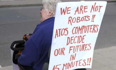 Protest by disabled people against cuts in their benefits, London, Britain - 11 May 2011