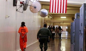 Inmate and guard prison