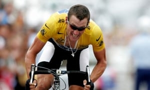 Lance Armstrong competes in the 2004 Tour de France.