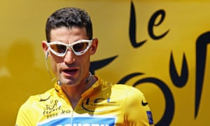 Discovery Channel's team rider George Hincapie at the Tour de France in 2006.