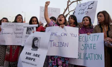 A rally in support of Malala Yousufzai in Islamabad